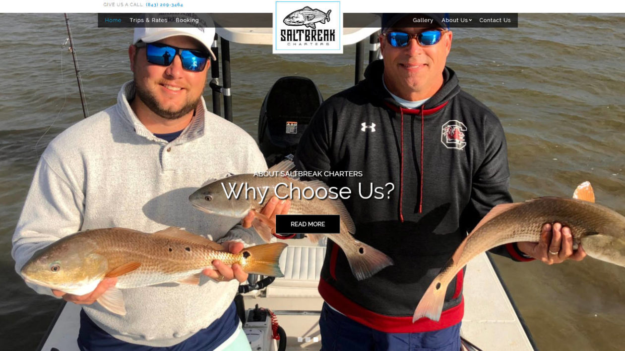 Saltbreak Charters Charleston Fishing Trips