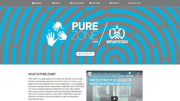 Pure Zone antimicrobial protection film Charleston Wrapstar