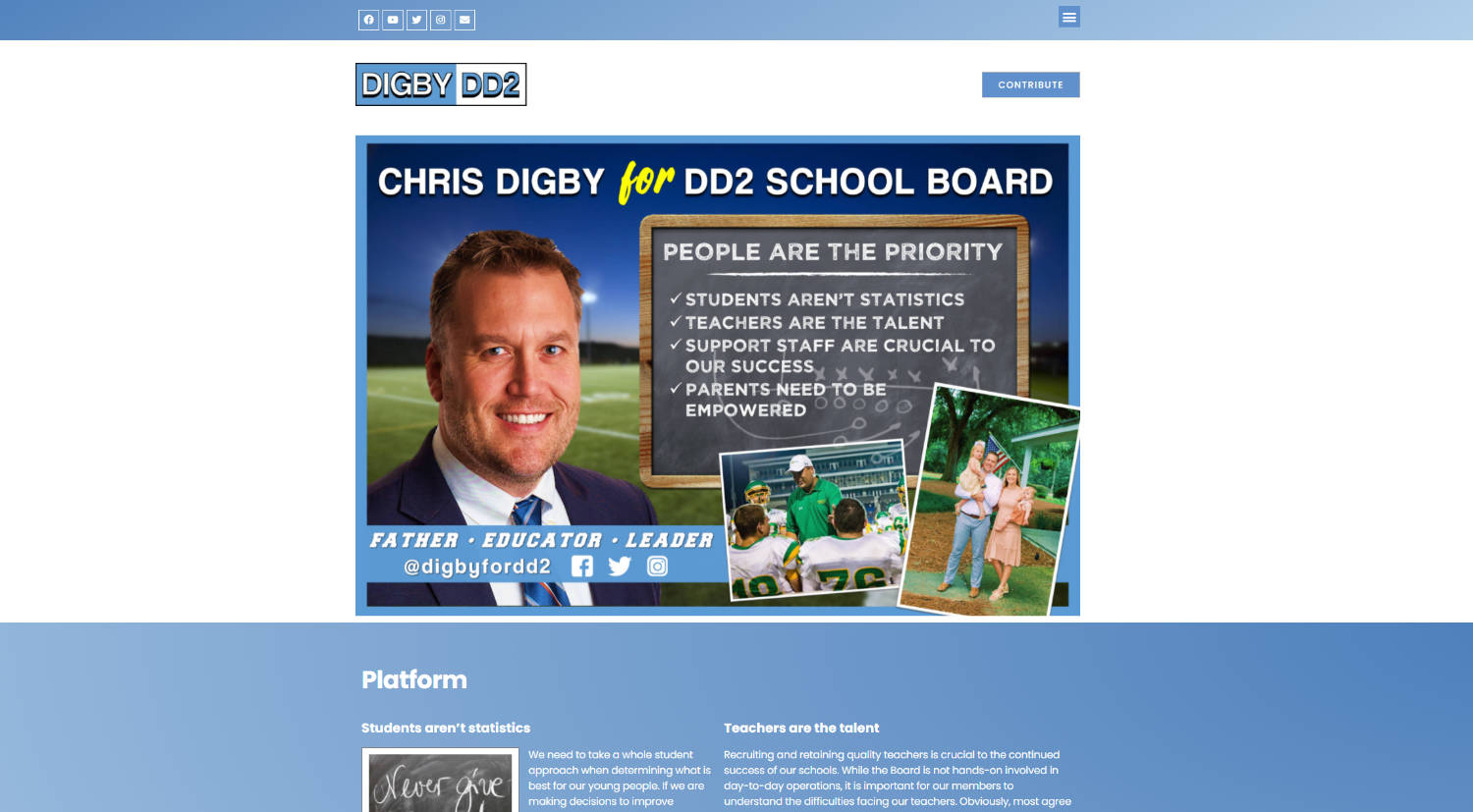 Chris Digby for DD2 School District Board