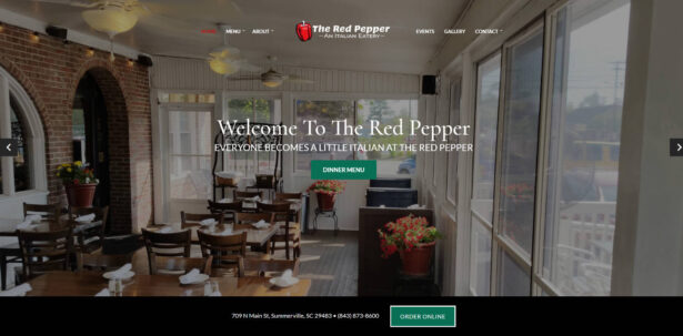 The Red Pepper Italian Restaurant Summerville Charleston