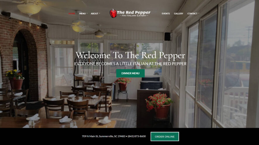 The Red Pepper Italian Restaurant Summerville Charleston